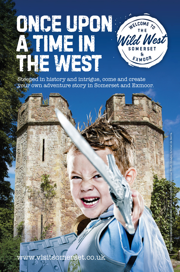 Visit Somerset Wild West campaign adventure poster